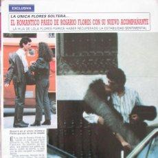 Coleccionismo de Revista Diez Minutos: RECORTE REVISTA DIEZ MINUTOS Nº 1915 1988 ROSARIO FLORES 3 PGS. Lote 193234381