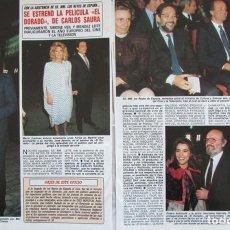Coleccionismo de Revista Diez Minutos: RECORTE REVISTA DIEZ MINUTOS Nº 1915 1988 CARLOS SAURA, ALAIN DELON. Lote 193234461