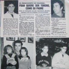 Coleccionismo de Revista Diez Minutos: RECORTE REVISTA DIEZ MINUTOS Nº 1915 1988 FRANCISCO RIVERA ORDOÑEZ 3 PGS. Lote 193234581