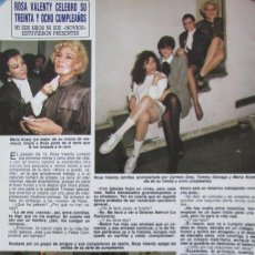 Coleccionismo de Revista Diez Minutos: RECORTE REVISTA DIEZ MINUTOS Nº 1915 1988 ROSA VALENTY. Lote 193234646
