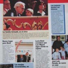 Coleccionismo de Revista Diez Minutos: RECORTE REVISTA DIEZ MINUTOS Nº 2164 1993 CAROLINA DE MÓNACO, LUCIA BOSÉ. Lote 193241293
