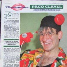 Coleccionismo de Revista Diez Minutos: RECORTE REVISTA DIEZ MINUTOS Nº 2028 1990 PACO CLAVEL 5 PGS. Lote 193241813