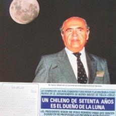 Coleccionismo de Revista Diez Minutos: RECORTE REVISTA DIEZ MINUTOS Nº 2028 1990 JENARO GAJARDO VERA, DUEÑO DE LA LUNA 3 PGS. Lote 193241858