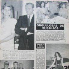 Coleccionismo de Revista Diez Minutos: RECORTE REVISTA DIEZ MINUTOS Nº 2028 1990 LUZ CASAL. SIMONETA GOMEZ-ACEBO DE BORBON 4 PGS. Lote 193241952