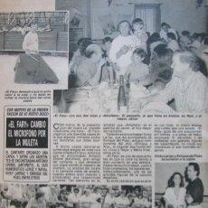 Coleccionismo de Revista Diez Minutos: RECORTE REVISTA DIEZ MINUTOS Nº 2028 1990 EL FARY. Lote 193242022