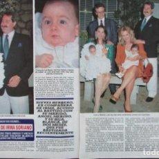 Coleccionismo de Revista Diez Minutos: RECORTE REVISTA DIEZ MINUTOS Nº 2028 1990 IRMA SORIANO, NIEVES HERRERO. Lote 193242411