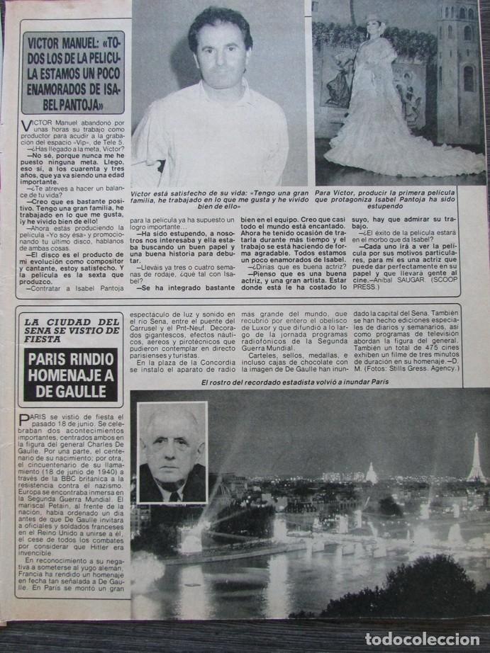 RECORTE REVISTA DIEZ MINUTOS Nº 2028 1990 VICTOR MANUEL, ANTONIO OTERO EL VENGADOR DE VALLECAS (Coleccionismo - Revistas y Periódicos Modernos (a partir de 1.940) - Revista Diez Minutos)
