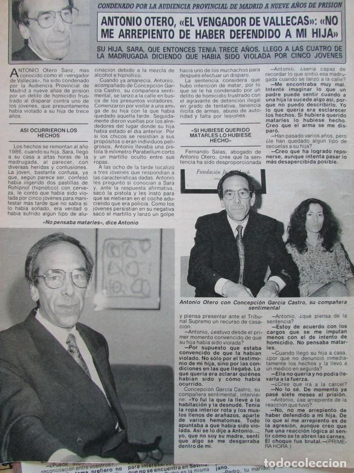 Coleccionismo de Revista Diez Minutos: RECORTE REVISTA DIEZ MINUTOS Nº 2028 1990 VICTOR MANUEL, ANTONIO OTERO EL VENGADOR DE VALLECAS - Foto 2 - 193242723