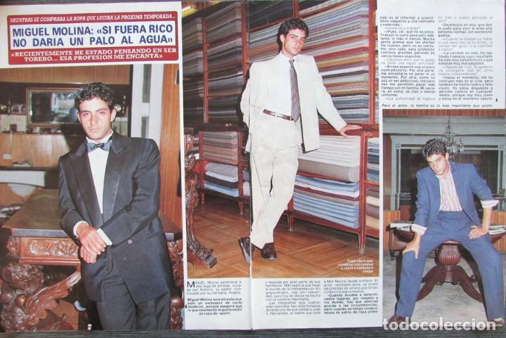 RECORTE REVISTA DIEZ MINUTOS Nº 2028 1990 MIGUEL MOLINA 4 PGS (Coleccionismo - Revistas y Periódicos Modernos (a partir de 1.940) - Revista Diez Minutos)