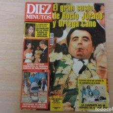 Coleccionismo de Revista Diez Minutos: REVISTA DIEZ MINUTOS Nº 2451. AGOSTO DE 1998. EL GRAN SUSTO DE ROCÍO JURADO Y ORTEGA CANO. Lote 193638082