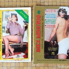 Coleccionismo de Revista Diez Minutos: LOTE 2 REVISTAS DIEZ MINUTOS NUMERO ALMANAQUE 1973 - 1977 COMPLETAS. Lote 194087751