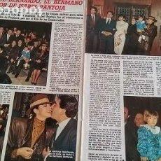 Coleccionismo de Revista Diez Minutos: REPORTAJE DIEZ MINUTOS 1801 AÑO 1986 BODA BERNARDO, HERMANO DE ISABEL PANTOJA. Lote 194403125