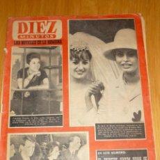 Coleccionismo de Revista Diez Minutos: REVISTA DIEZ MINUTOS Nº 550 - AÑO 1962 - PORTADA CONCHITA VELASCO, GINA LOLLOBRIGIDA, JANE MANSFIELD. Lote 195214701