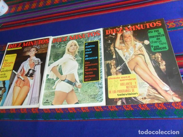 Coleccionismo de Revista Diez Minutos: LOTE 202 REVISTAS DIEZ MINUTOS DESDE Nº 871 A 1298 DE 1967 A 1976 MÁS 2 DE 1982 BUEN ESTADO GENERAL. - Foto 9 - 170015716