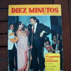 Coleccionismo de Revista Diez Minutos: DIEZ MINUTOS / LOLA FLORES, ROBERT TAYLOR, ROCIO DURCAL, PATTY SHEPARD, AUDREY HEPBURN. Lote 195330405