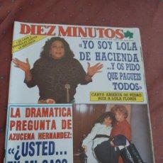 Coleccionismo de Revista Diez Minutos: REVISTA DIEZ MINUTOS LOLA FLORES 1989. Lote 195509325