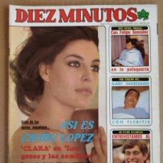 Coleccionismo de Revista Diez Minutos: REVISTA DIEZ MINUTOS 29/05/1982 , LA CASA DE ELVIS , CHARO LOPEZ , GABY , POSTER BELGICA MUNDIAL 82.. Lote 197161682
