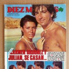 Coleccionismo de Revista Diez Minutos: REVISTA DIEZ MINUTOS 06/08/1983 , PLACIDO DOMINGO , EL PUMA AL DESNUDO , CAROL BURNET.. Lote 197162191