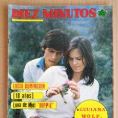 Coleccionismo de Revista Diez Minutos: REVISTA DIEZ MINUTOS 19/04/1975 , POSTER ELVIS + RAQUEL WELCH , CARMEN SEVILLA ,. Lote 197162732