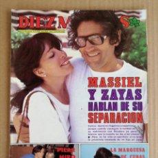 Coleccionismo de Revista Diez Minutos: REVISTA DIEZ MINUTOS 16/10/1982 , ACCIDENTE ANA TORROJA MECANO (FOTOS DEL COCHE Y HOSPITAL) BEATLES.. Lote 197162901