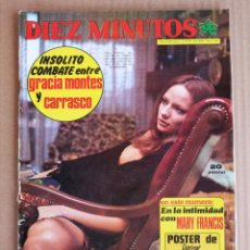 Coleccionismo de Revista Diez Minutos: REVISTA DIEZ MINUTOS 05/01/1974 STEVE MCQUEEN , MARY FRANCIS , AGATA LYS , POSTER FORGES.. Lote 197162932
