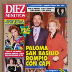 Coleccionismo de Revista Diez Minutos: REVISTA DIEZ MINUTOS 07/01/1994. Lote 197162977