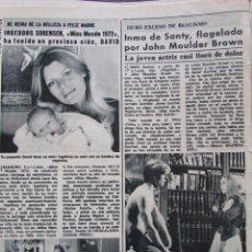 Collectionnisme de Magazine Diez Minutos: RECORTE REVISTA DIEZ MINUTOS Nº 1224 1975 INMA DE SANTIS, INGEBORG SORENSEN. MISS MUNDO 1972. Lote 197712515