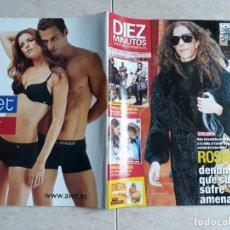 Coleccionismo de Revista Diez Minutos: DIEZ MINUTOS,MARZO 2010.ROSARIO,BISBAL Y ELENA,PAULA ECHEVARRIA ETC... Lote 198824860