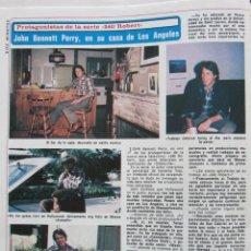 Coleccionismo de Revista Diez Minutos: RECORTE REVISTA DIEZ MINUTOS Nº 1493 1980 JOHN BENNET PERRY. 240 ROBERT. Lote 199096407