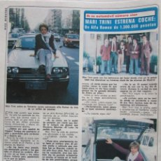 Coleccionismo de Revista Diez Minutos: RECORTE REVISTA DIEZ MINUTOS Nº 1493 1980 MARY TRINI. Lote 199096518