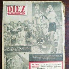 Coleccionismo de Revista Diez Minutos: UNA REVISTA DIEZ MINUTOS Nº123 - 3 ENERO 1954 ELIJA ENTRE 6 NUMEROS DISTINTOS TODOS DEL AÑO 54. Lote 199149062
