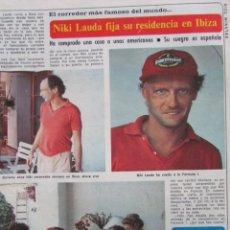 Coleccionismo de Revista Diez Minutos: RECORTE REVISTA DIEZ MINUTOS Nº 1617 1982 NIKI LAUDA 2 PGS. Lote 199149606