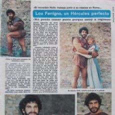 Coleccionismo de Revista Diez Minutos: RECORTE REVISTA DIEZ MINUTOS Nº 1617 1982 LOU FERRIGNO, VICTORIA ABRIL. TERESA RABAL. Lote 199149812