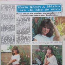 Coleccionismo de Revista Diez Minutos: RECORTE REVISTA DIEZ MINUTOS Nº 1617 1982 MARÍA KOSTY, VICTORIA ABRIL, MIGUEL BOSÉ. Lote 199149892