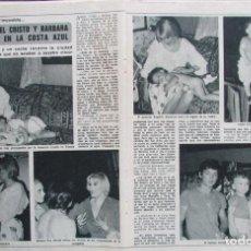 Coleccionismo de Revista Diez Minutos: RECORTE REVISTA DIEZ MINUTOS Nº 1617 1982 ÁNGEL CRISTO Y BÁRBARA REY. BERTÍN OSBORNE 4 PGS. Lote 199150271
