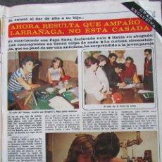 Coleccionismo de Revista Diez Minutos: RECORTE REVISTA DIEZ MINUTOS Nº 1617 1982 AMPARO LARRAÑAGA 3 PGS. FERNANDO ESTESO . Lote 199150582