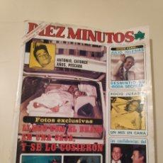 Coleccionismo de Revista Diez Minutos: NT DIEZ MINUTOS 1519 ROCIO JURADO MARISOL JULIO IGLESIAS JOSE LUIS MANZANO NAVAJEROS ANA TORRENT. Lote 199286393