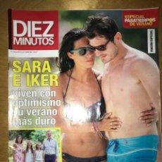 Coleccionismo de Revista Diez Minutos: DIEZ MINUTOS - NÚM: 3547 - AGOSTO 2019 - SARA E IKER VIVEN CON OPTIMISMO SU VERANO MÁS DURO. Lote 201554748