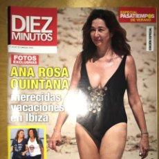 Coleccionismo de Revista Diez Minutos: DIEZ MINUTOS - NÚM: 3543 - JULIO 2019 - ANA ROSA QUINTANA MERECIDAS VACACIONES EN IBIZA. Lote 201554851