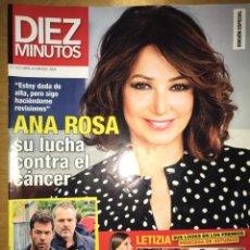 Coleccionismo de Revista Diez Minutos: DIEZ MINUTOS - NÚM: 3506 - OCTUBRE 2018 - ANA ROSA SU LUCHA CONTRA EL CÁNCER. Lote 201555401