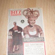 Coleccionismo de Revista Diez Minutos: DIEZ MINUTOS Nº 156 / 22 AGOSTO 1954. Lote 202549435