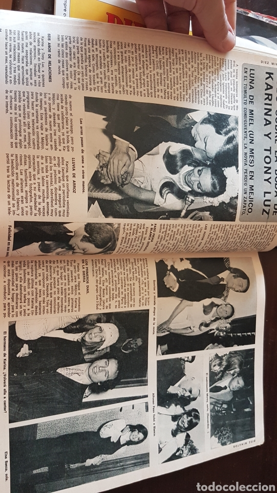 Coleccionismo de Revista Diez Minutos: Revista Diez minutos 1128 . Ana Belén. Boda Karina Ágata Luis Luis Miguel dominguin - Foto 2 - 203068082
