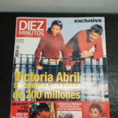 Coleccionismo de Revista Diez Minutos: REVISTA DIEZ MINUTOS 2481 12-3-99 - EXCLUSIVA ROMANCE BRAD PITT Y JENNIFER ANISTON (ENVÍO 4,31€). Lote 204723607