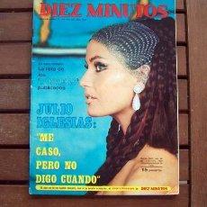 Coleccionismo de Revista Diez Minutos: DIEZ MINUTOS / JULIO IGLESIAS, KARINA, MARI TRINI, MARISA MELL, CHAD EVERETT, PATTY D'ARBANVILLE. Lote 205368888