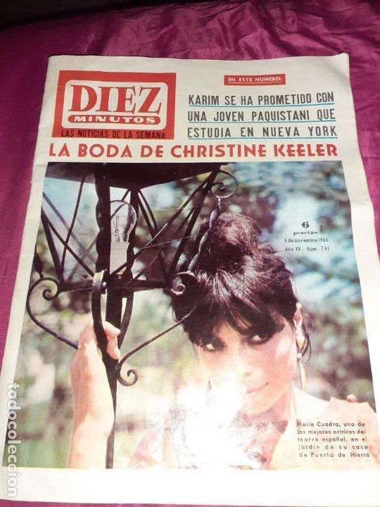 ANTIGUA REVISTA DÍEZ MINUTOS 1965 BODA DE CHRISTINE KEELER, (Coleccionismo - Revistas y Periódicos Modernos (a partir de 1.940) - Revista Diez Minutos)