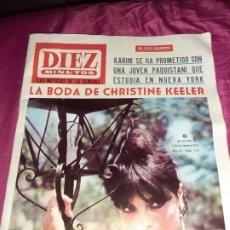 Coleccionismo de Revista Diez Minutos: ANTIGUA REVISTA DÍEZ MINUTOS 1965 BODA DE CHRISTINE KEELER,. Lote 205389311