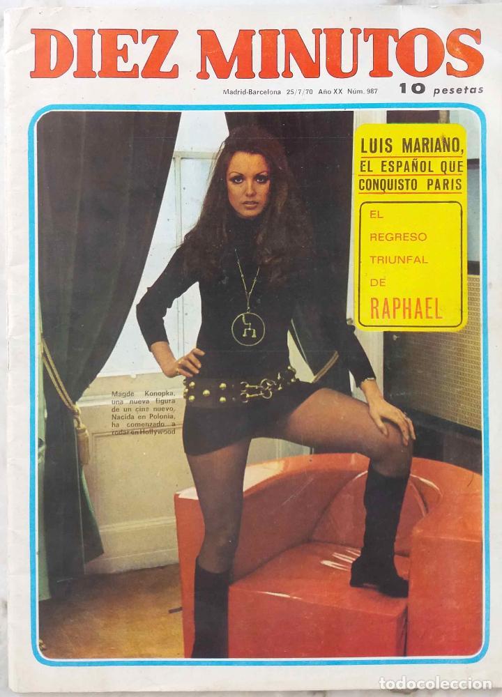 DIEZ MINUTOS. 7 DE 1970.Nº 987. LUIS MARIANO. RAPHAEL (Coleccionismo - Revistas y Periódicos Modernos (a partir de 1.940) - Revista Diez Minutos)