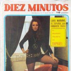 Coleccionismo de Revista Diez Minutos: DIEZ MINUTOS. 7 DE 1970.Nº 987. LUIS MARIANO. RAPHAEL. Lote 206193620
