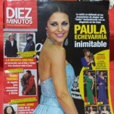 Coleccionismo de Revista Diez Minutos: REVISTA DIEZ MINUTOS N° 3261 FEBRERO 2014 PAULA ECHEVARRÍA. Lote 206441102