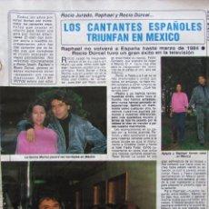 Coleccionismo de Revista Diez Minutos: RECORTE REVISTA DIEZ MINUTOS Nº 1682 1983 RAPHAEL, ROCIO DURCAL, ROCIO JURADO. 2 PGS. Lote 206999490